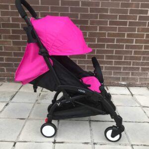 Прогулочная коляска YOYA 175 А+ розовая 4 ярусный капор