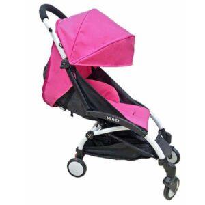 Прогулочная коляска YOYA 175 ярко розовая