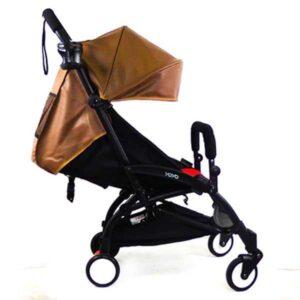 Прогулочная коляска YOYA 175 ЭКО-кожа коричневая