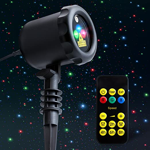 Уличный лазерный проектор новогодний